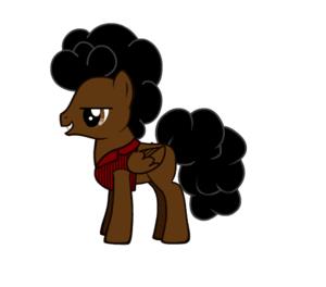 Jimi Hendrix as a pony