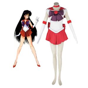 Sailor Moon Sailor Mars Hino Rei Fighting Uniform Cosplay Costume