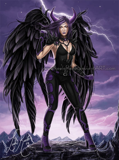 Arhanghel Costume-Black Wings