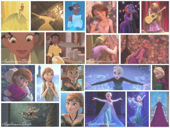 Huh. My tuktok 4 princesses are all modern...