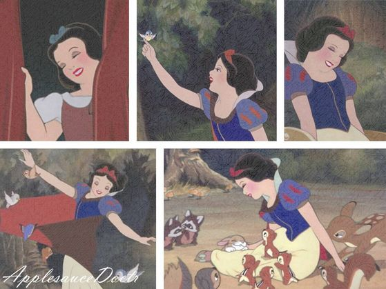 I think Snow White smiles the most of all the princesses. :)