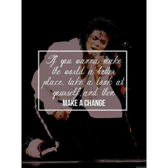 #Make that change Michael would want us too,and I do too