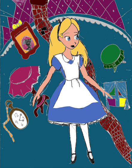 A drawing of Alice in Wonderland- によって moi