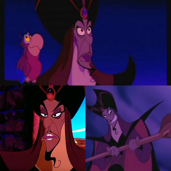 Jafar is a creeper and has Gilbert Gottfried as a con vẹt (who actually turns out to be a thêm interesting character in the sequels). The others are thêm dynamic and/or charismatic._Digoenes
