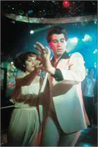 John Travolta and Karen Gorney
