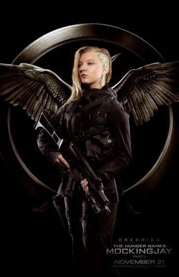 Natalie Dormer as Cressida (we lover her in Game of Thrones!)