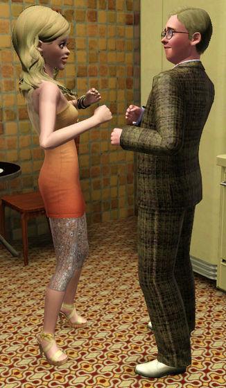 Alice dances with Alex's boss