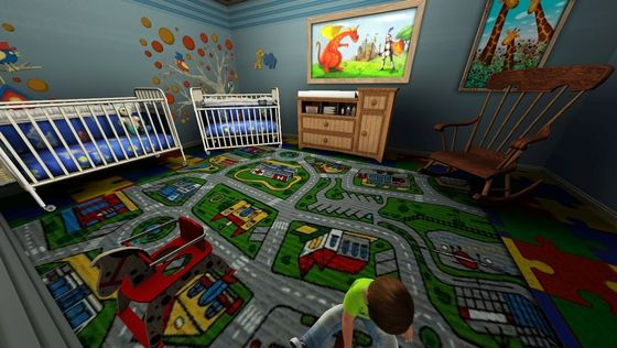 And the boy's room