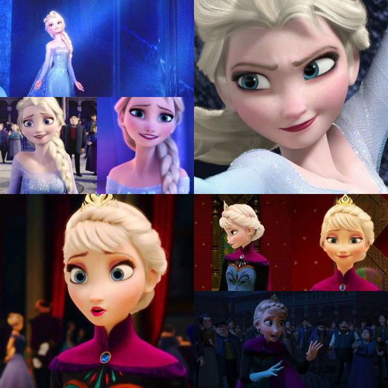Best shot of Elsa- Very middle, smiling at Anna
