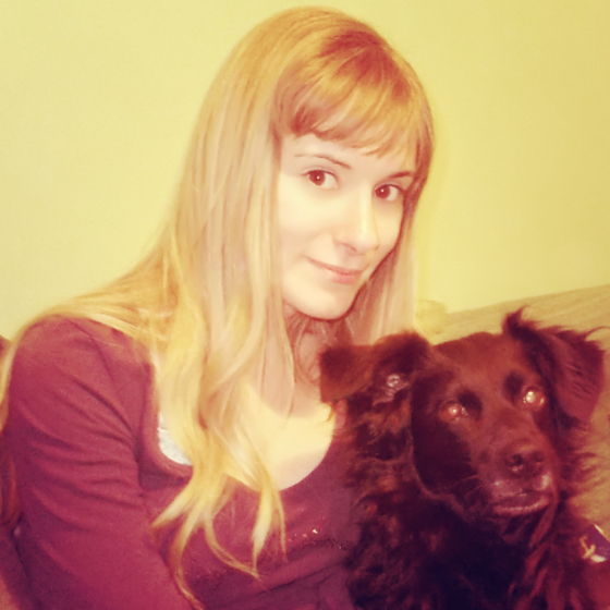 Me with my lovely dog Spolky ♥