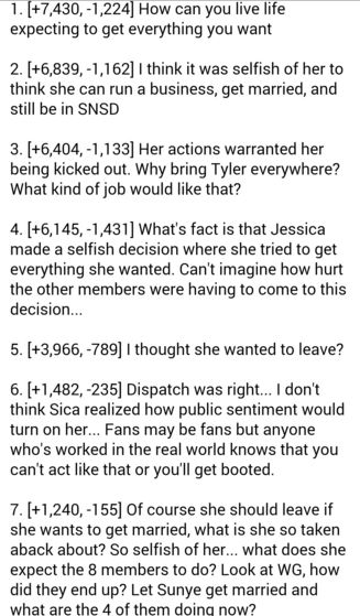 That last commentaar was unnecessary though. Wonder Girls are a different story: They BOTH actually had plans to marry, while it was only Jessica here.
