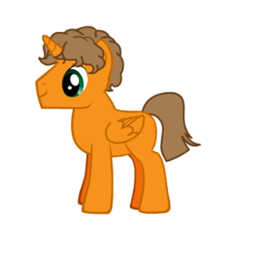 Max (At the time I created him, I had no clue he was an alicorn. Don't hate me.)