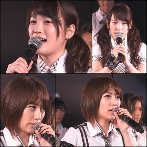 From Team A Renai Kinshi Jourei stage today, after encore MC