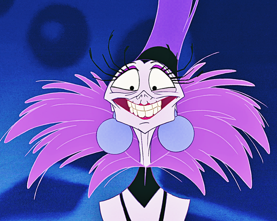 Yzma, one of Mary's All-Time प्रिय डिज़्नी Characters.