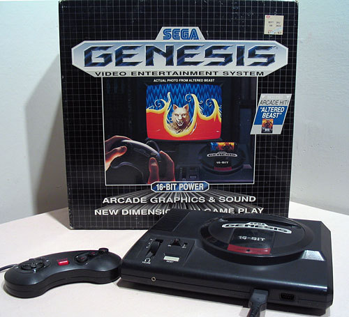 BEHOLD! THE SEGA GENESIS! BOW DOWN AT IT'S ALMIGHTY FEET! (Or just clap for 2 seconds. :D)