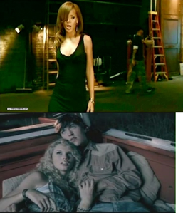 The música vídeos for Unfaithful and Tim McGraw from 2006