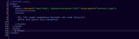 It should be one of the first tags in your codes.