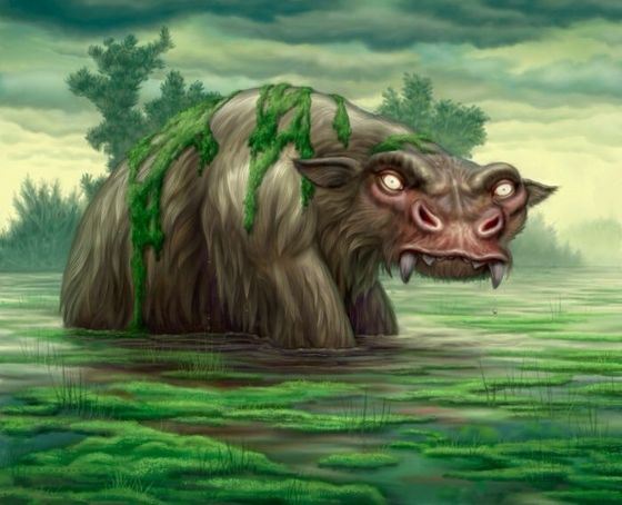 7. Bunyip- While not exactly terrifying, the creature has been the subject of tales told によって the natives to keep children from going out after dark.