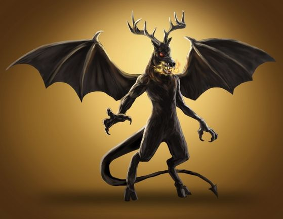 8. Jersey Devil- Covered in black fur, possessing a long serpentine tail, wings, and red eyes, this creature terrified the city of New Jersey up until its reign of terror came to an end.