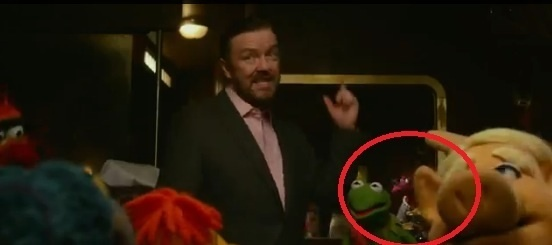 Way, way, way in the back is purple beak nosed Muppet Mildred. Also in this film is Annie Sue.