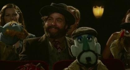 Also returning from the last movie is Hobo Joe (Zach Galifinakis)