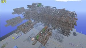 A Very Large Minecraft Redstone Build....