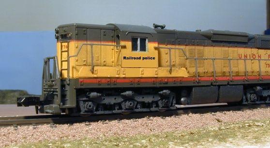 Union Pacific Railroad Police locomotive