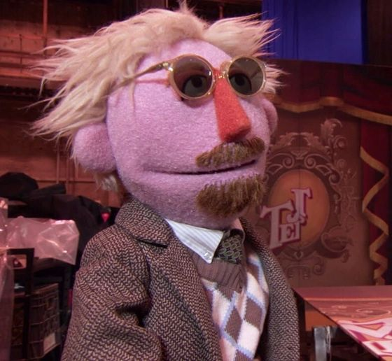 James Bobin Muppet- With this puppet's only appearance being in the Muppets (2011), a reappearance from this puppet seems unlikely. Just because it didn't appear in the sequel Muppets Most Wanted, doesn't mean it won't ever be reused again.
