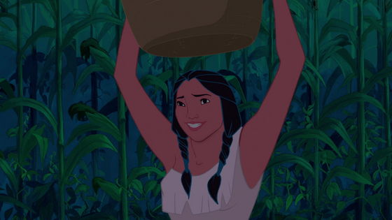 When my cousin first time saw the movie she thought this was Pocahontas