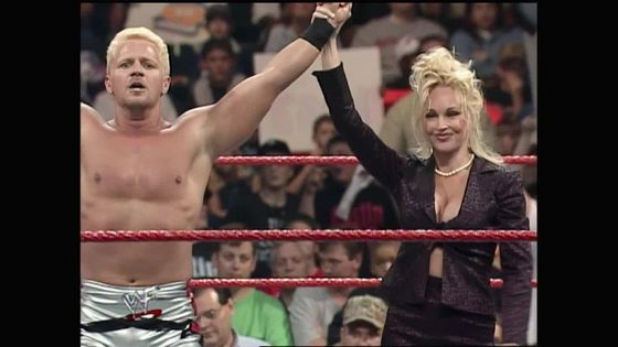Jeff Jarrett & Debra looking smug
