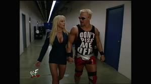 Jeff Jarrett with Debra heading to the stage!