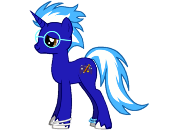 The only pony who doesn't make fun of her name, as well as the mane six, Blazin' shows her around and defends her from any pony that makes fun of her name.