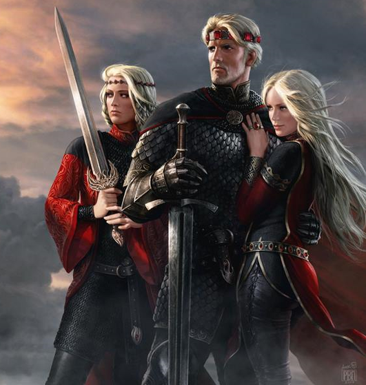 Visenya, Aegon and Raenys Targaryen