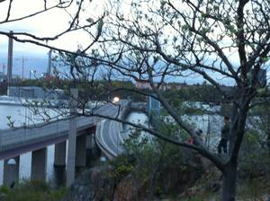View from Lidingö over to Stockholm, picture taken kwa me