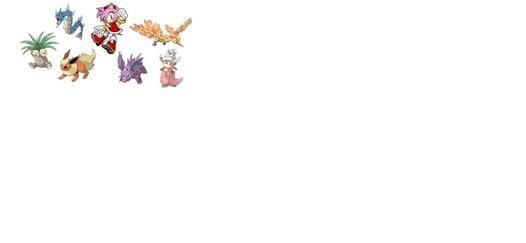 Amy's Pokemon: Nidorino Flareon Exeggutor Slowking Moltres Gyarados