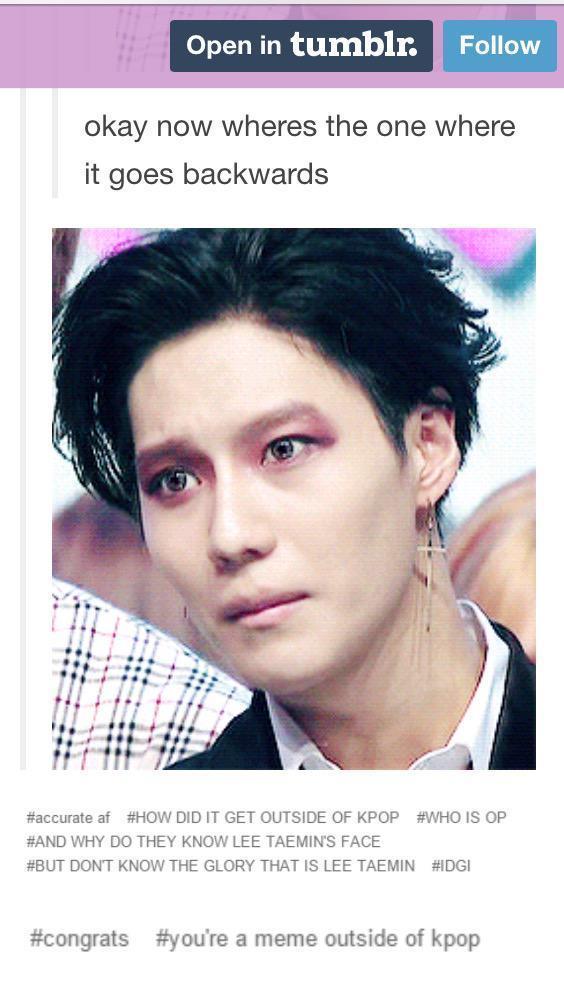 Taemin Is Officially A Famous Tumblr Meme Lee Taemin Fanpop