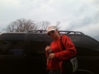 Traci Kochendorfer getting in SUV