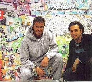 David Beckham and Sacha Jafri
