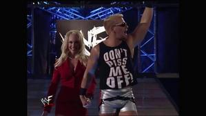 Jeff Jarrett with Debra heading to the ring!
