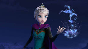 "A scene from song ""Let it Go"""