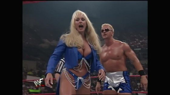 Jeff Jarrett sends Debra to the back!