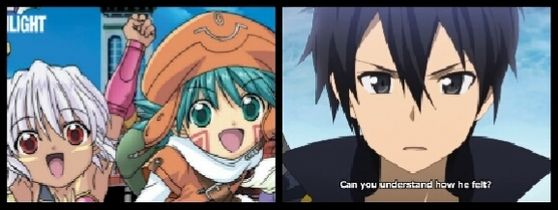 .Hack// Season 1 VS Sword Art Online.