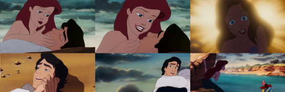 "Ariel's Reprise Wakes Eric Up: ""What would I give to live where あなた are? What would I pay to stay here beside you? What would I do to see あなた smiling at me?"""