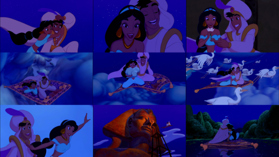 """Aladdin & (Jasmine): A whole new world (every turn a surprise) With new horizons to pursue (every moment red letter)"""
