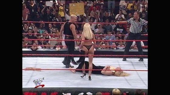 Jeff Jarrett rescues Debra from Nicole Bass!