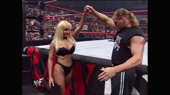 Val Venis leaves with Debra!