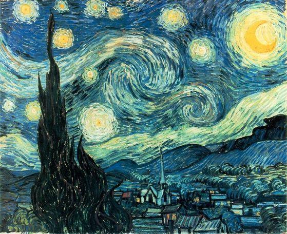 Vincent Van Gogh's Starry Night (1889)