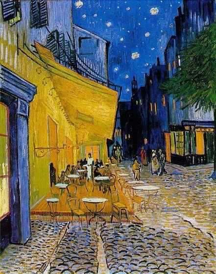 Vincent Van Gogh's Café Terrace at Night (1888)