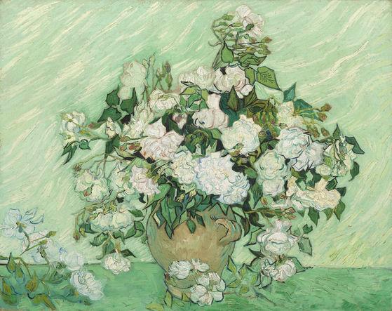 Vincent Van Gogh's Vase With Pink Roses (1890)