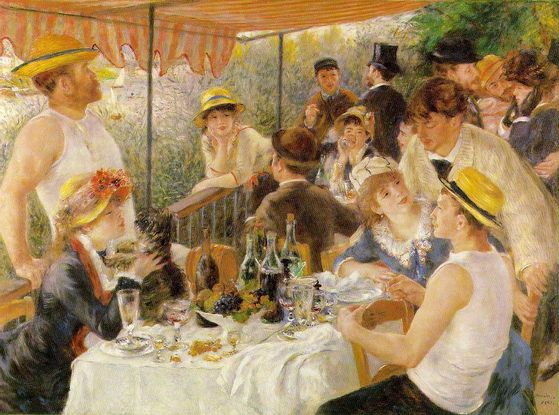 Pierre-Auguste Renoir's Luncheon of the Boating Party (1881)